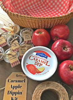 Caramel Apple Dipping Kit for College Students @michellepaigeblogs.com