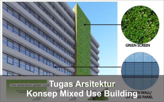 konsep mixed use building