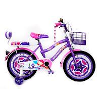 Sepeda Mini Anak Atlantis Bell CTB 16 Inci x 1.75 Inci Steel 4-7 Tahun Kids City Bike