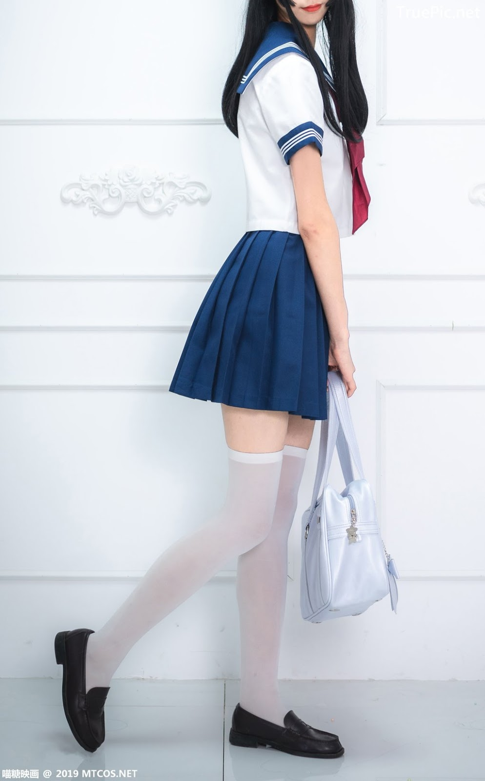 Image-MTCos-喵糖映画-Vol-012–Chinese-Pretty-Model-Cute-School-Girl-With-Sailor-Dress-TruePic.net- Picture-6