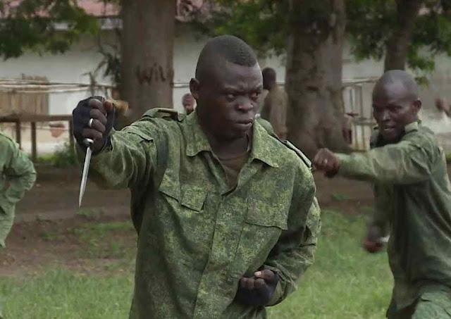 Os treinos na África Central são em russo