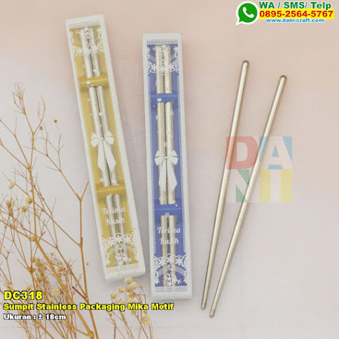 Sumpit Stainless Packaging Mika Motif