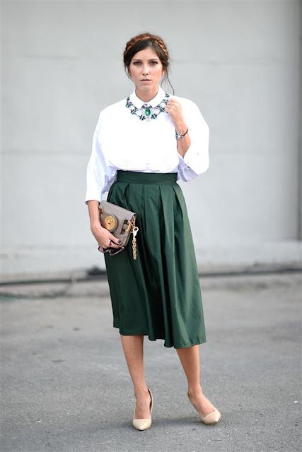 sokak-modası-yeşil-etek