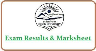 Doon University Results 2020