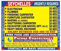 Prerna Consultancy Hiring for Seychelles