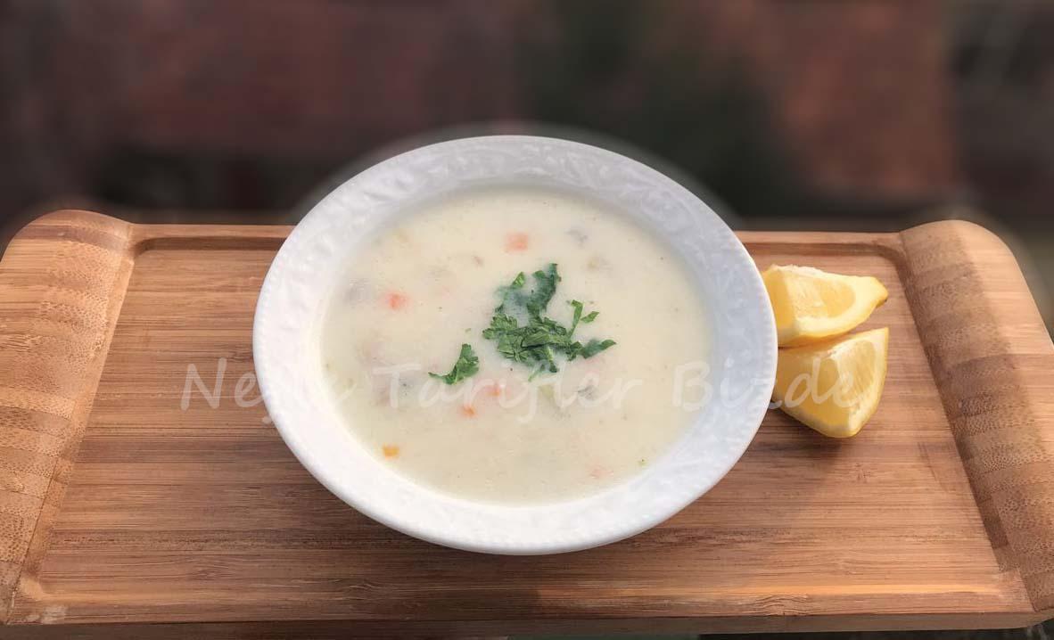 Tavuklu yalancı kelle çorbası tarifi