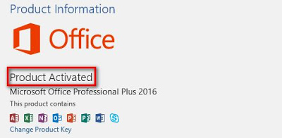 Status Aktivasi Office 365