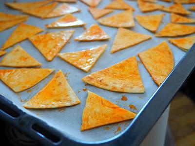 Pieczone chipsy z tortilli