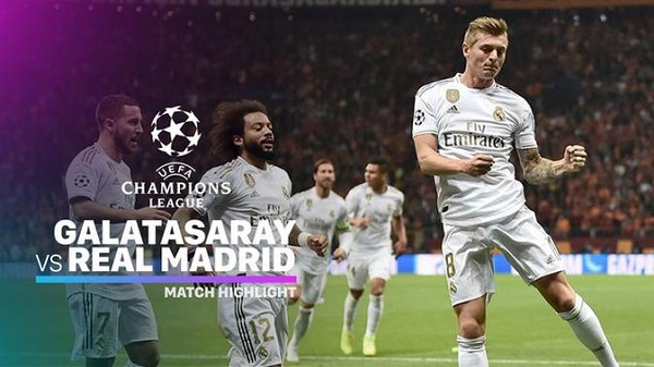 Cuplikan Gol Liga Champions Galatasaray vs Real Madrid 0-1