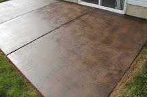 Stain Concrete Patio - Chris Loves Julia
