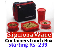 Signoraware Containers Lunch Box Flat Rs 299 at Flipkart rainingdeal