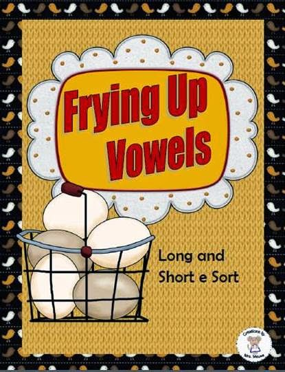 https://www.teacherspayteachers.com/Product/Frying-Up-Vowels-Long-Short-e-1075690