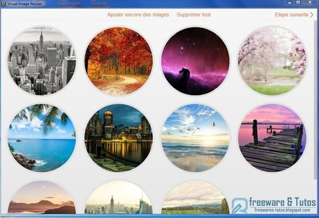 Visual Image Resizer : pour redimensionner les images par lots