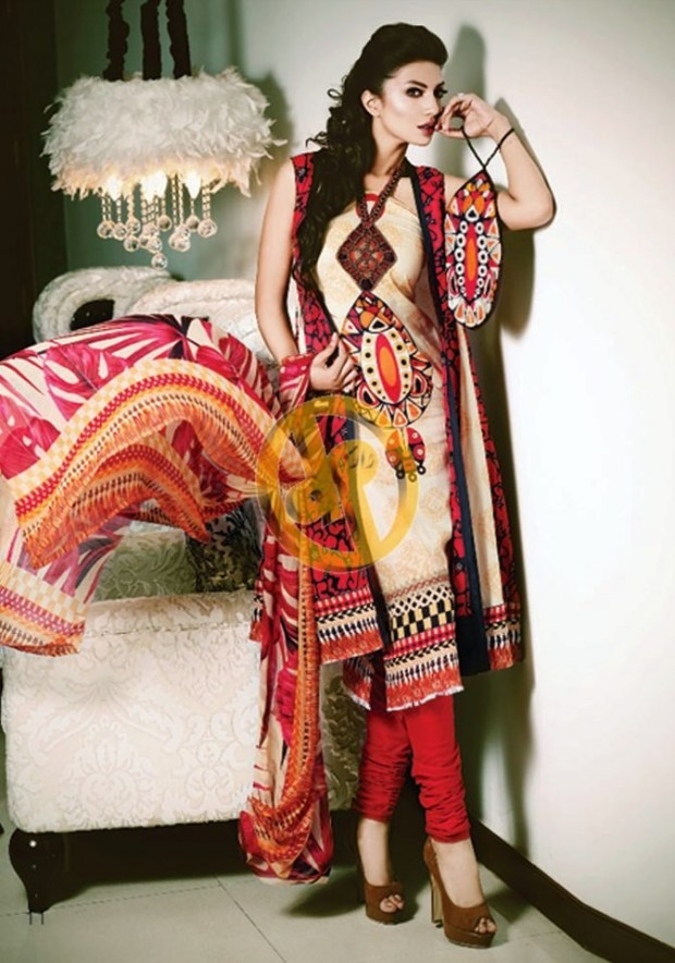 c66761e444 Kuki Concepts Fall Winter Collection 2013-2014 By Dawood Textile-Printed  Lawn Dresses For Ladies Fashionable Clothes - The Famous Pakistani 2015