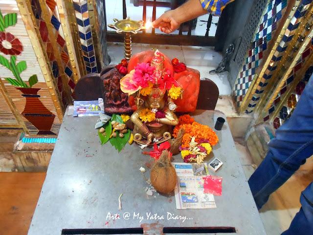 The deity of Bhairavnath in metal, Saswad, Pune, Maharashtra