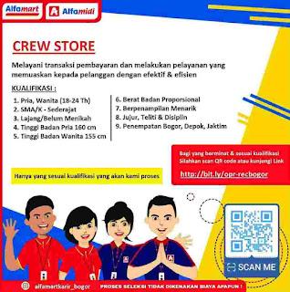 Crew Store Alfamart Brance Bogor