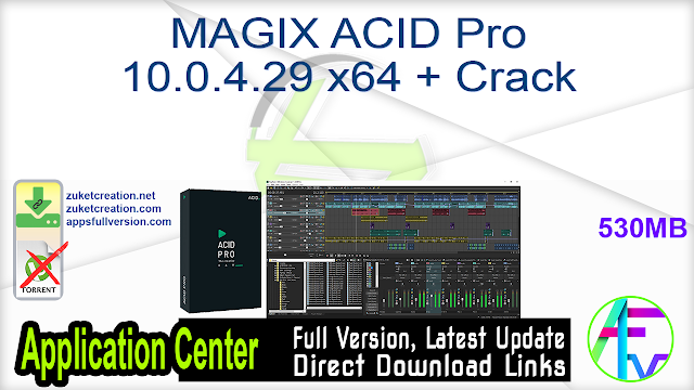 MAGIX ACID Pro 10.0.4.29 x64 + Crack