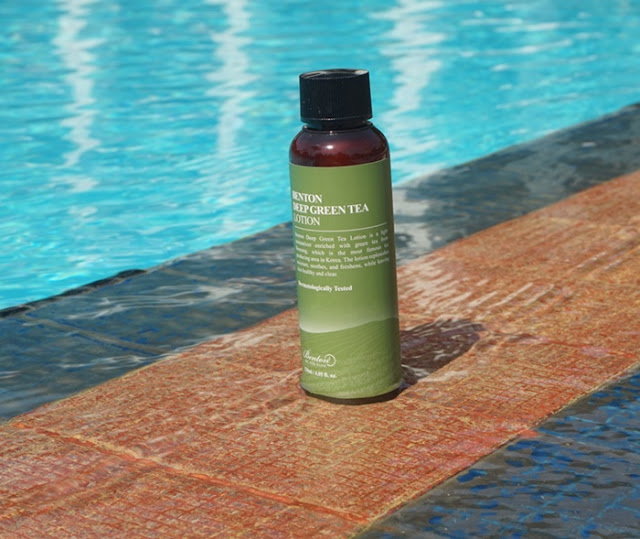 benton deep green tea lotion, benton cosmetic, benton product, benton skincare, skincare bottle