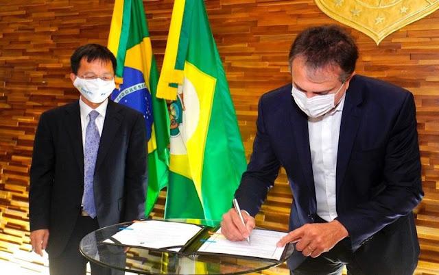 The governor of the Brazilian state of Ceara, Camilo Santana,