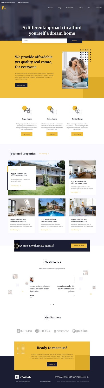 Real Estate Agent Elementor Template