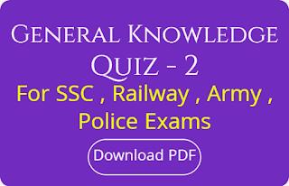Genaral Knowledge Quiz - 2