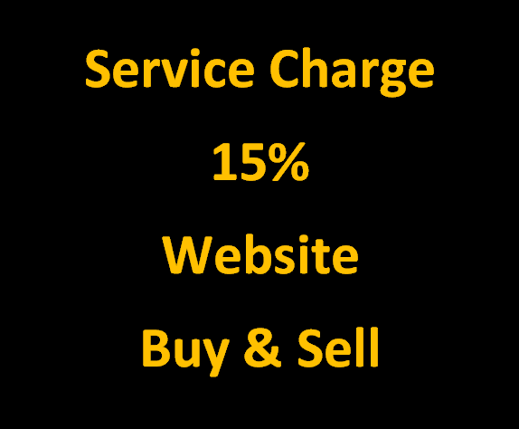 Service Charge 15% For Website Buy & Sell