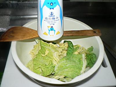 白菜塩もみ