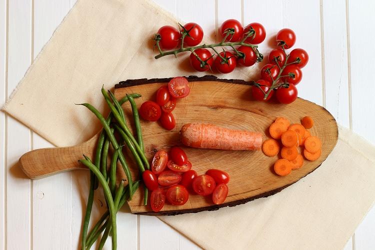 Vollkornnudeln mit Gemüse-Tomatensoße 3