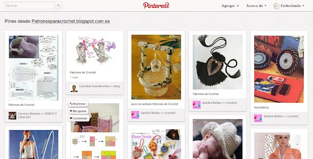 Patrones de Crochet en Pinterest