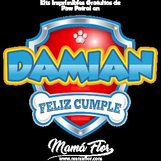 Logo de Paw Patrol: DAMIÁN