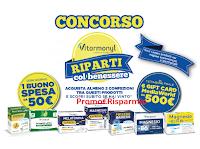 Logo Concorso Vitarmonyl ''Riparti col benessere'' : vinci Gift Card Mediaworld da 500€ e buoni spesa da 50€