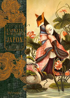 """couverture de """"ESPRITS ET CREATURES DU JAPON"""" de Benjamin Lacombe et Lafcadio Hearn chez Soleil"""