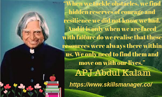 """When we tackle obstacles, we find hidden reserves of courage and resilience we did not know we had. And it is only when we are faced with failure do we realise that these resources were always there within us. We only need to find them and move on with our lives."""