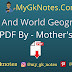 India And World Geography PDF For RAS