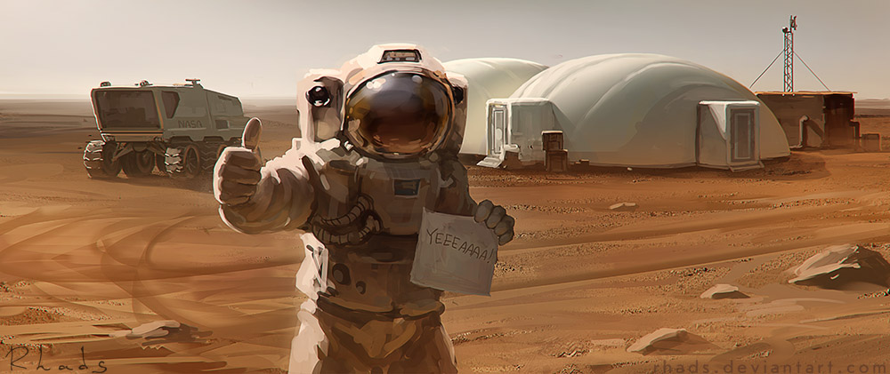 The Martian concept art by Artem Cheboha (Rhads)