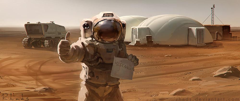 The Martian concept art by Artem Cheboha (Rhads)