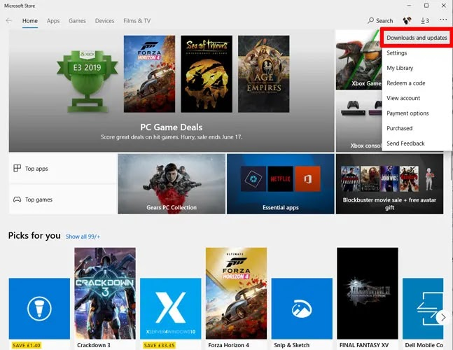 تطبيق الصور لا يعمل Windows 10 Microsoft Store 1