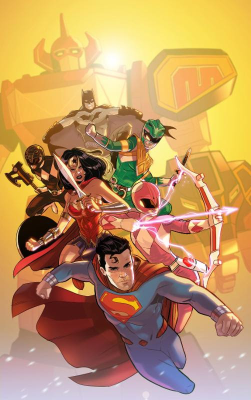 Justice League/Mighty Morphin Power Rangers #1 second print