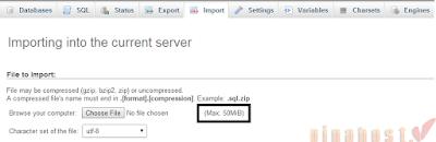 Cách Import file database dung lượng lớn lên shared hosting