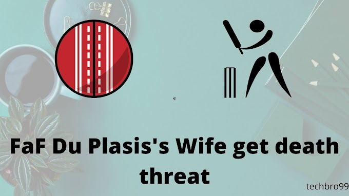 Faf du plessis's wife get the death threat