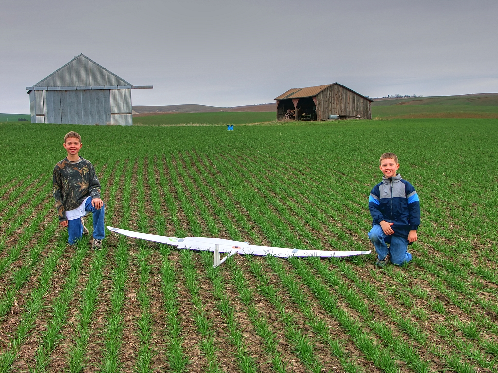 The unmanned farmer dillon and logan posing with my first uav in 2007 sciox Images