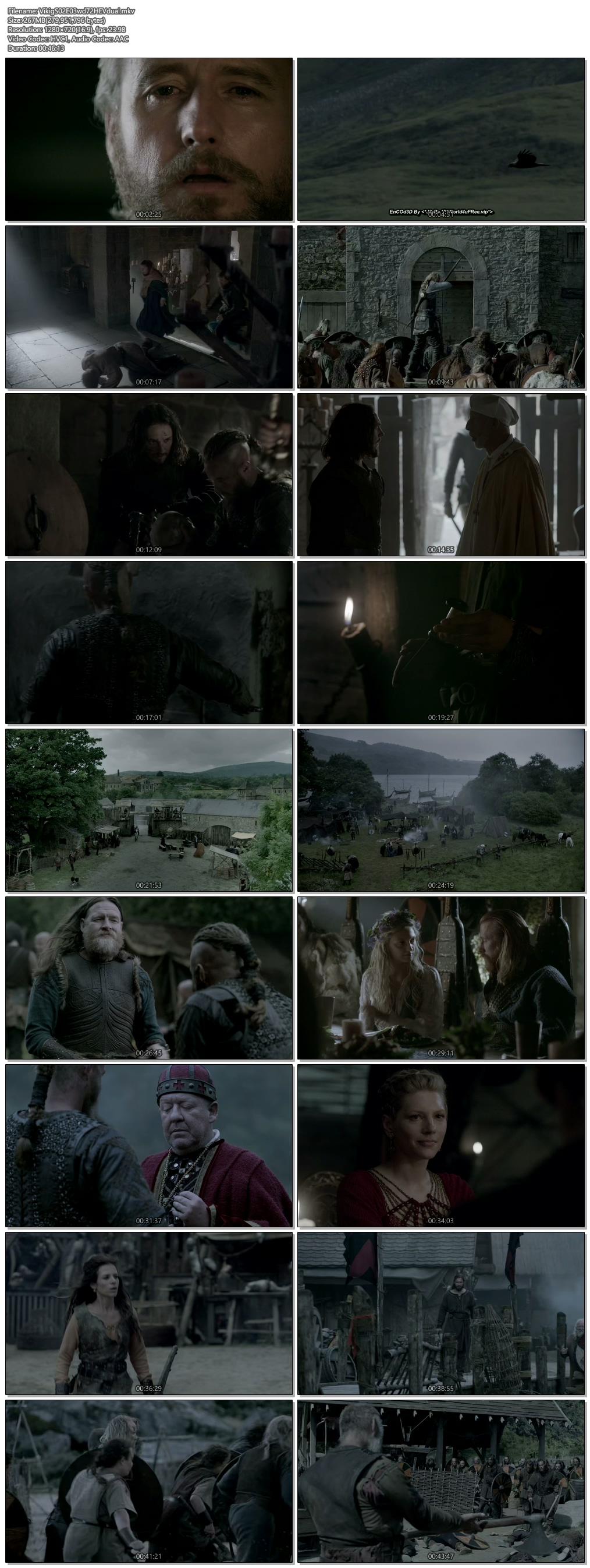 Screenshots Of Hindi Dubbed Show Vikings 2014 Season 02 Episode 03 300MB 720P HD