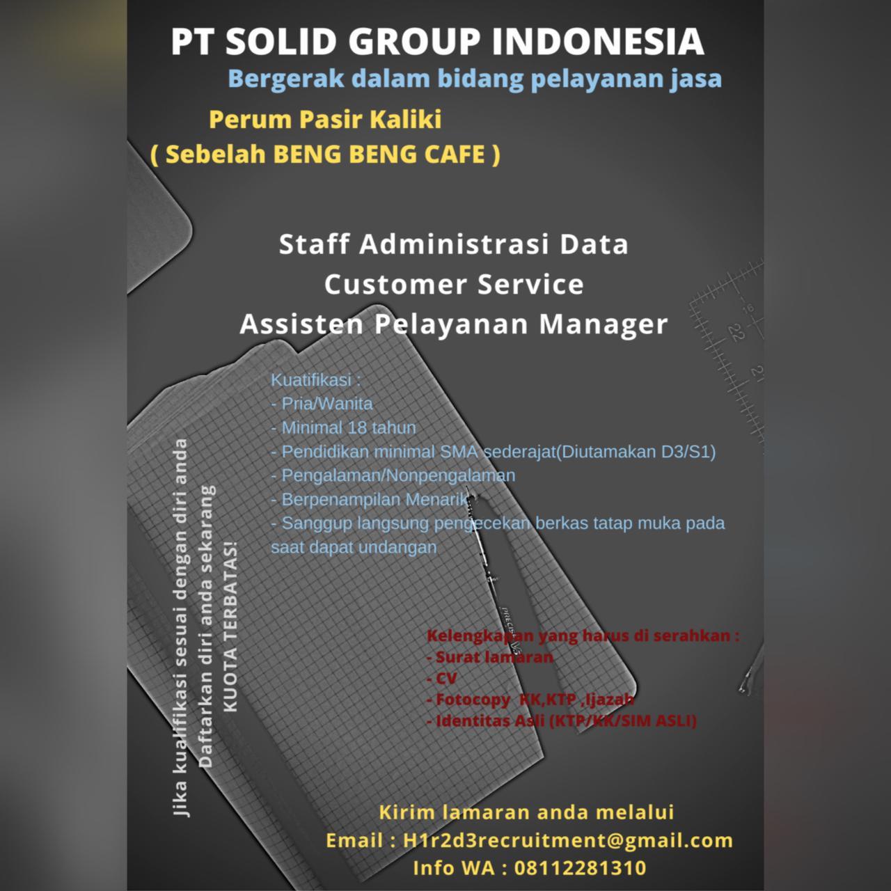 Lowongan Kerja PT. Solid Group Indonesia Bandung Januari 2021
