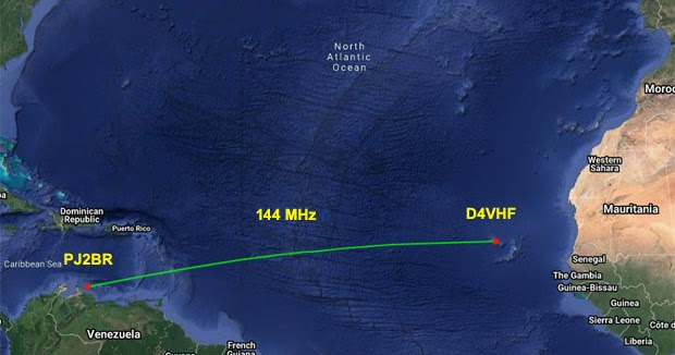 144 MHz Trans-Atlantic record extended to almost 4,760kms!