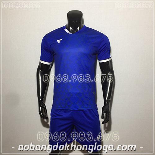 Áo bóng đá ko logo TA NC màu xanh dương
