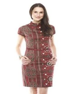 contoh dress batik pendek