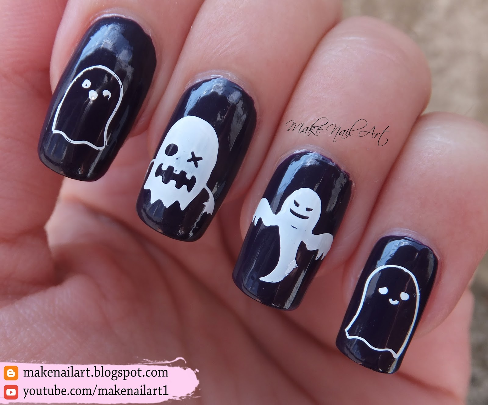 Make Nail Art Ghost Stamping Nail Art Design 31dc2016