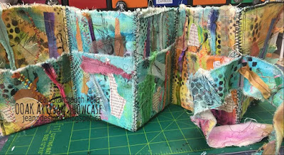 Jean Stambaugh Peter, Mixed media Accordion Book, OOAK Artisans