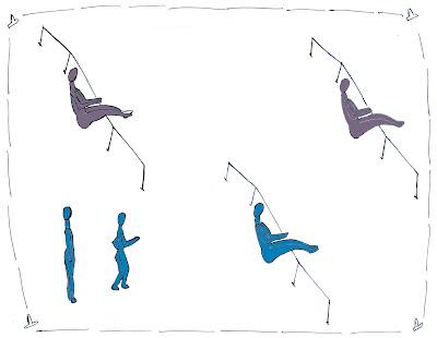 Salto alto atletismo juego saltando cuerdas