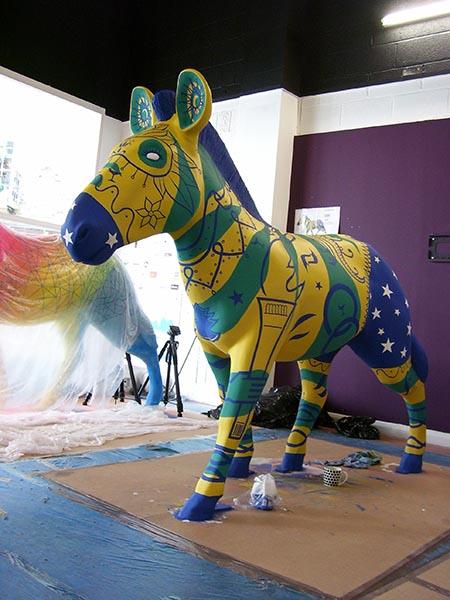 casa brazil Zebra davey artist